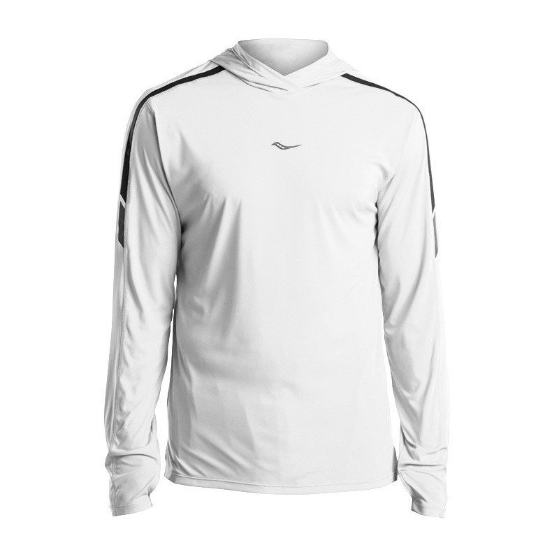 bluza do biegania męska SAUCONY UV LITE LONG SLEEVE / SAM800180-WH RunnersClub 42250