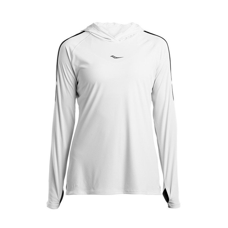 bluza do biegania damska SAUCONY UV LITE LONG SLEEVE / SAW800250-WH RunnersClub 42260