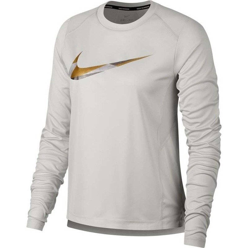 bluza do biegania damska NIKE MILER METALLIC LONG SLEEVE / AH7957-010 RunnersClub 42041