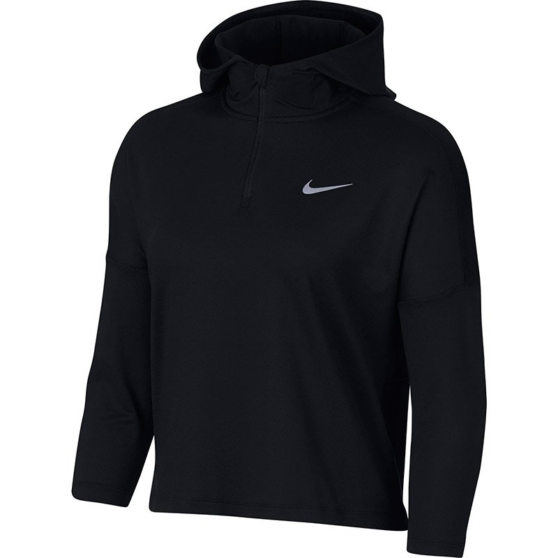 bluza do biegania damska NIKE DRY ELEMENT HALF ZIP HOODIE / AA7958-010 RunnersClub 38961