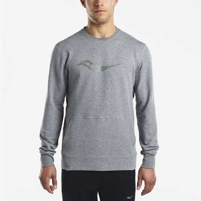 bluza męska SAUCONY MENS LIFE ON THE RUN COOLDOWN LONG SLEEVE / SAM800057-DGH RunnersClub 42237