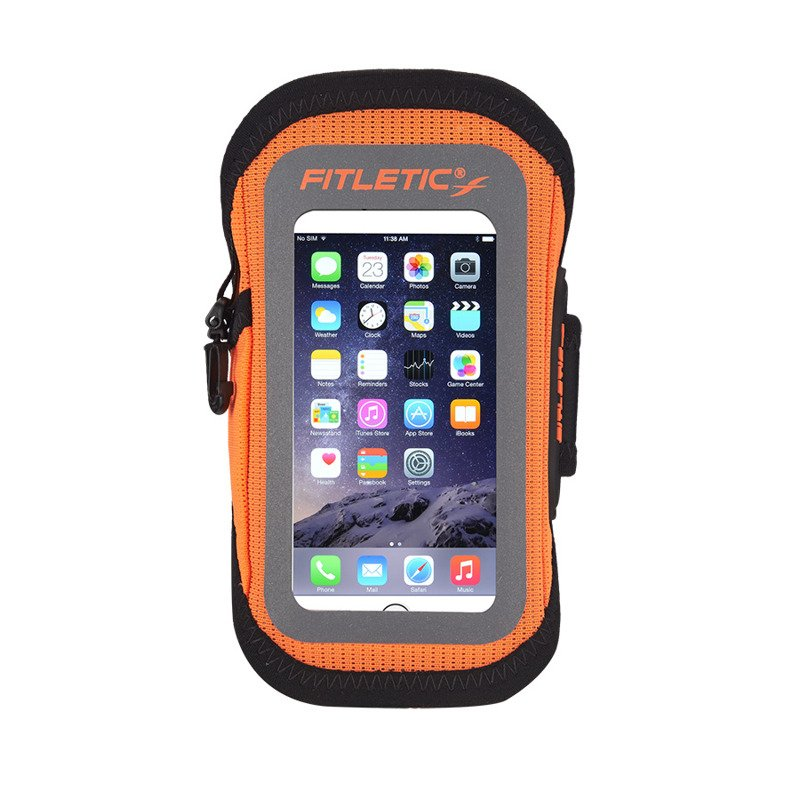 FITLETIC Surge Armband: ORG, S/M RunnersClub 40587