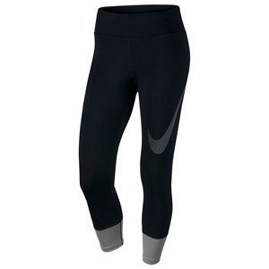legginsy do biegania damskie 3/4 NIKE POWER ESSENTIAL CROP PRINT TIGHT / 831663-010