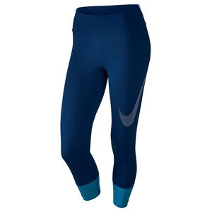 legginsy do biegania damskie 3/4 NIKE POWER ESSENTIAL CROP PRINT TIGHT / 831663-430