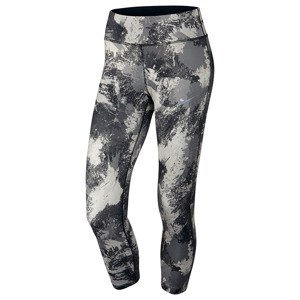 legginsy do biegania damskie 3/4 NIKE POWER  ESSENTIAL CROP PRINT TIGHT / 848002-010