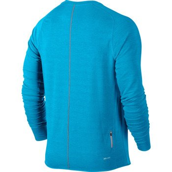 bluza do biegania męska NIKE DRI-FIT FEATHER FLEECE CREW / 598973-415