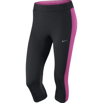 legginsy do biegania damskie 3/4 NIKE DRI-FIT ESSENTIAL CAPRI / 645603-013