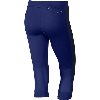legginsy do biegania damskie 3/4 NIKE DRI-FIT ESSENTIAL CAPRI / 645603-457
