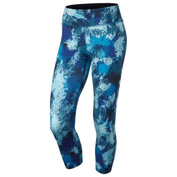 legginsy do biegania damskie 3/4 NIKE POWER  ESSENTIAL CROP PRINT TIGHT / 848002-457