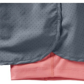 spodenki do biegania damskie NIKE PERFORATED RIVAL 2IN1 SHORT / 645468-494