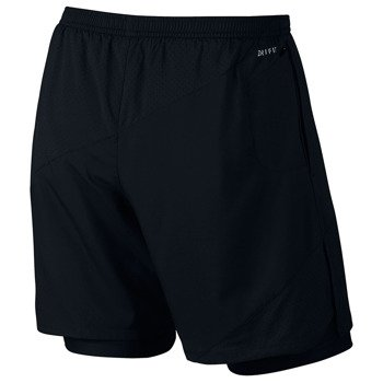spodenki do biegania męskie NIKE 7IN DISTANCE FLEX 2-IN-1  SHORT / 834222-010